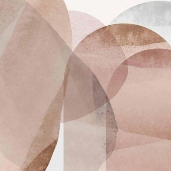 Mouvement de Rose Panel Corail Artwallz Paris