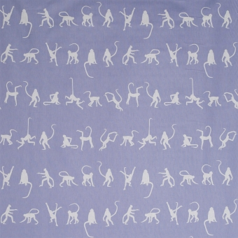 MonkeyPuzzle Fabric Bluebell Andrew Martin