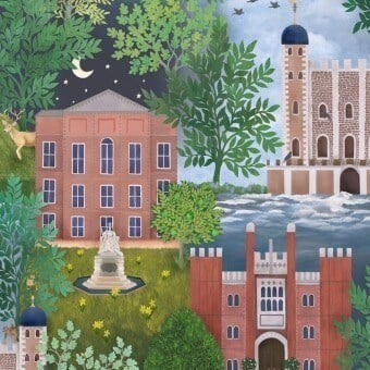 Papier peint Palace Tales Leaf Green Cole and Son