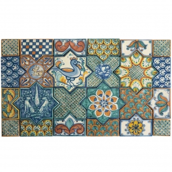 Tappeto cement Tiles Multi Le Nid