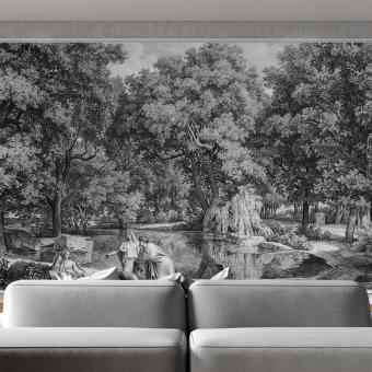 Panneau Leaf and Leisure Monochrome Artwallz Paris