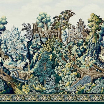 Panneau Verdure Tapestry Viridian/Teal Cole and Son
