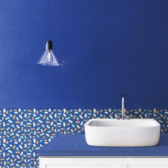 Terrazzo cement Tile Bleu Beauregard Studio