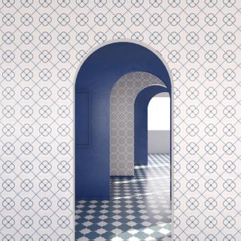 Versailles cement Tile Bleu Beauregard Studio