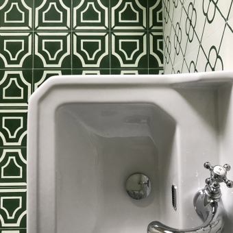 Villandry cement Tile Bleu Beauregard Studio