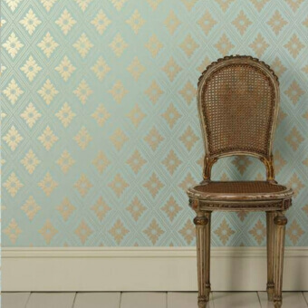Ranelagh Wallpaper Blue ground Farrow and Ball