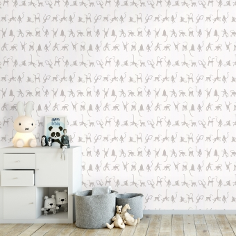 Mischief Wallpaper Taupe Andrew Martin