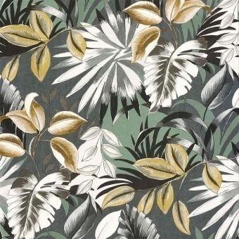 Papier peint Floresta Vert de gris Casamance