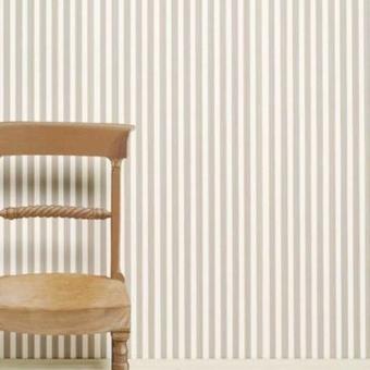 Closet Stripe Wallpaper All white Farrow and Ball