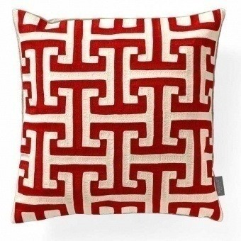 Skiathos Cushion Rouge de Chine Nobilis