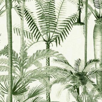 Palmera Cubana Fabric Green/White Mindthegap