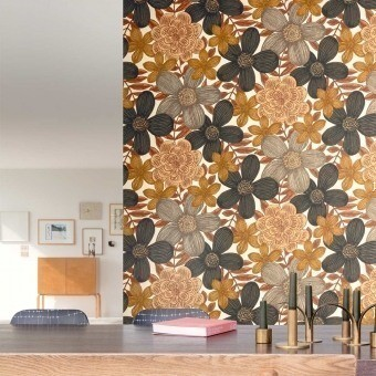 Marigold Wallpaper Greenery Masureel