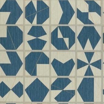 Papier peint Kutani Vinyl Bleu Osborne and Little