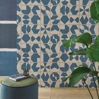 Kutani Vinyl Wallpaper Bleu Osborne and Little