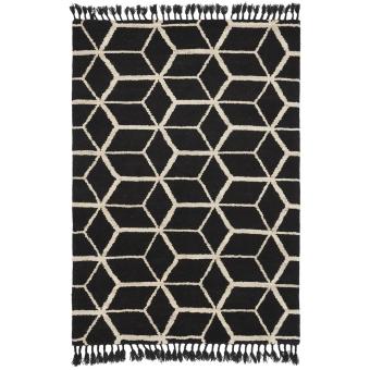 Tapis Geometrisk Black 140x200 cm Brink & Campman