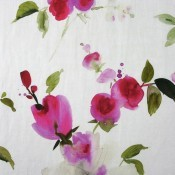 Tissu Rose Jaune Nobilis