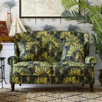 Traveller's Palm Fabric Brown/Green Mindthegap