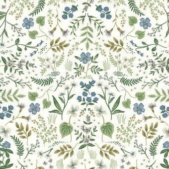 Wildwood Wallpaper Blue/Green Rifle Paper Co.
