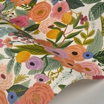 Papier peint Garden Party Rose Multi Rifle Paper Co.
