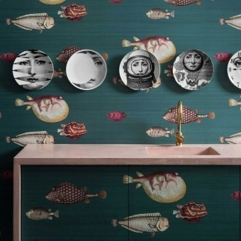 Acquario Wallpaper Vert Cole and Son
