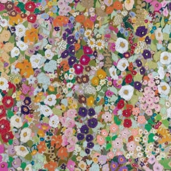 Hollyhocks Wallpaper Spring House of Hackney