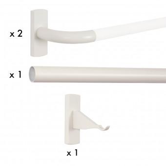 Bastide rod corner kit for eyelets 180 cm Houlès