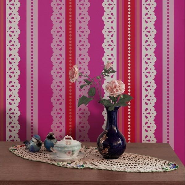 papier peint raya encaje catalina estrada. Black Bedroom Furniture Sets. Home Design Ideas