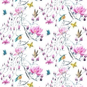 Tissu Madame Butterfly Peony Designers Guild