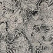 Tissu Komodo Graphite Jean Paul Gaultier