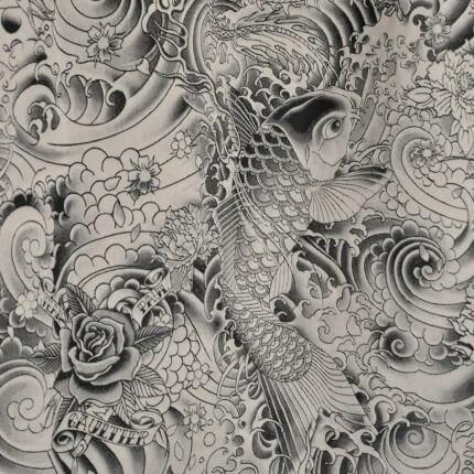 Tissu Komodo Jean Paul Gaultier Graphite 3433/01 Jean Paul Gaultier