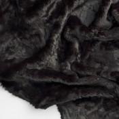 Fausse Fourrure Baloo Noir Sahco