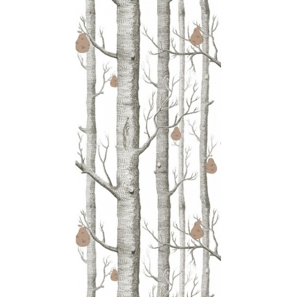 Papier peint Woods and Pears Cole and Son Blanc Cassé 95/5027 Cole and Son