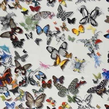 Tissu Butterfly Parade Opalin Christian Lacroix