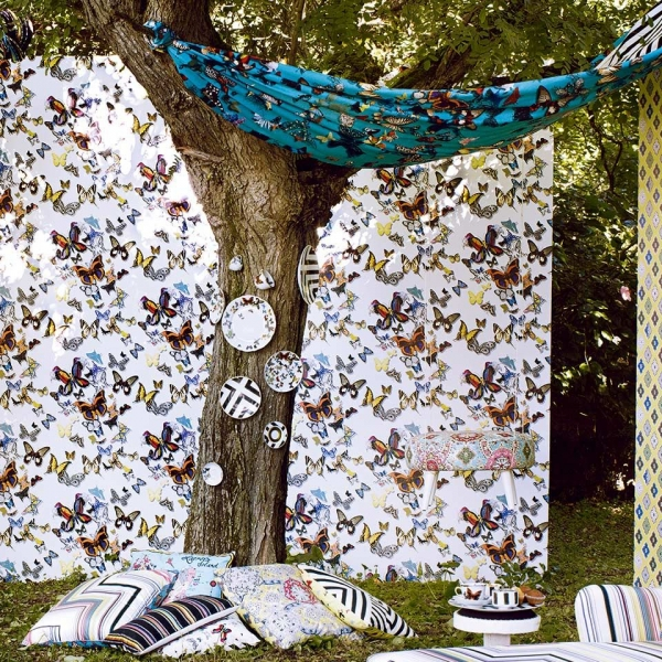 tissu butterfly parade christian lacroix. Black Bedroom Furniture Sets. Home Design Ideas