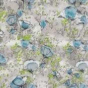 Tissu Promenade Bleu Lalie Design