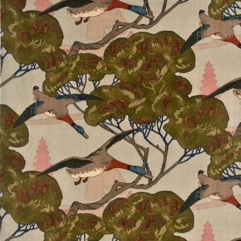 Velours Flying Ducks Sky Mulberry