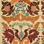 Tissu brodé Constantine Silk Linen Paprika-Red Mulberry