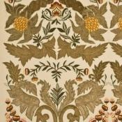 Tissu brodé Constantine Linen Sage/Gold Mulberry