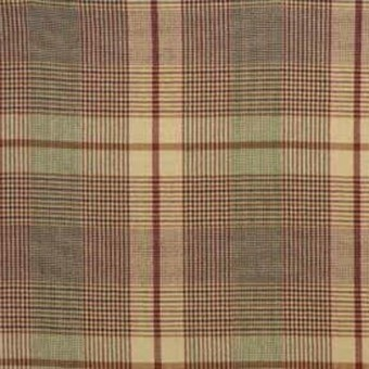 London Check Wool Red/Gin Mulberry
