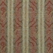 Tissu Misty Paisley Red-Olive Mulberry