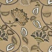 Tissu Anastasia Silk Linen Stone/Aqua Mulberry