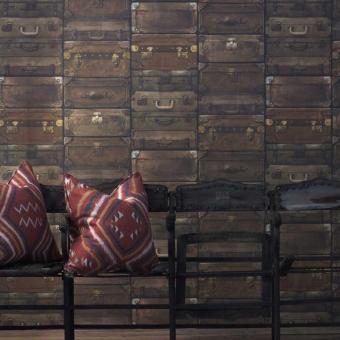 Luggage Wallpaper Gunmetal Andrew Martin