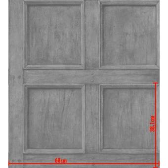 Regent Wallpaper Grey Andrew Martin