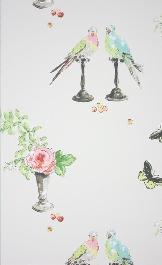 papier peint perroquet nina campbell. Black Bedroom Furniture Sets. Home Design Ideas