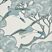 Papier peint Flying Ducks Aqua Mulberry
