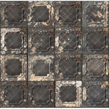 Papier peint Brooklyn Tins 07 Charbon NLXL by Arte