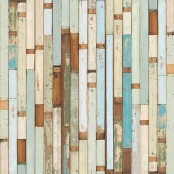 Scrapwood 03 Wallpaper Aqua NLXL by Arte