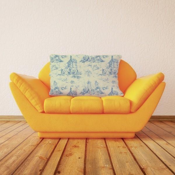 tissu la f te toile de jouy. Black Bedroom Furniture Sets. Home Design Ideas