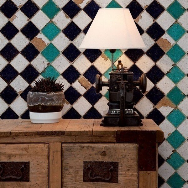 papier peint turquoise chess coordonne. Black Bedroom Furniture Sets. Home Design Ideas