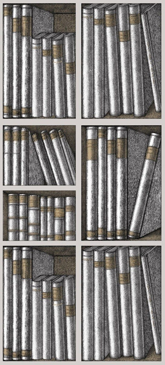 papier peint libris maximus fornasetti cole and son. Black Bedroom Furniture Sets. Home Design Ideas